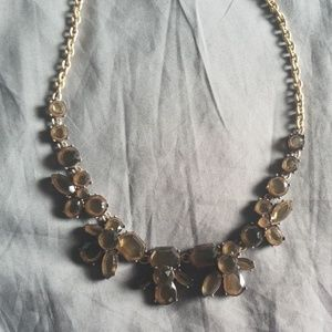 Jcrew Clear Brown Tinted Statement Necklace